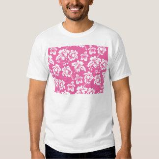 Flor rosada hawaiana poleras