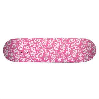 Flor rosada hawaiana tabla de skate