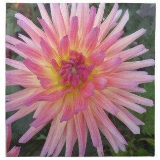 Flor rosada hermosa de la dalia servilletas