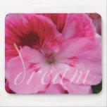 Flor rosada ideal Mousepad del geranio Tapete De Ratón