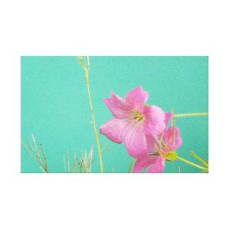 Flor rosada impresiones en lienzo estiradas