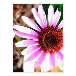 Flor rosada invitacion personalizada