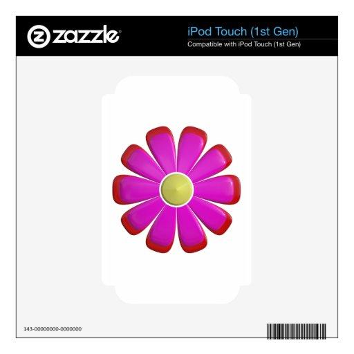 Flor rosada iPod touch skin