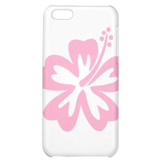 flor rosada J del hibisco