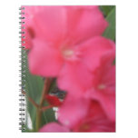 Flor rosada libreta espiral