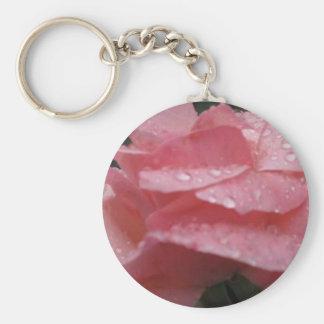 Flor rosada llavero