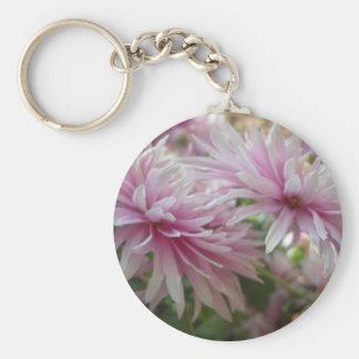 flor rosada llavero redondo tipo pin