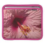 Flor rosada macra del hibisco mangas de iPad