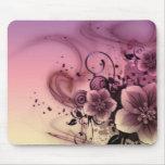 Flor rosada Mousepad de Girlie Alfombrillas De Ratones