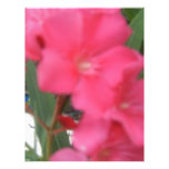 Flor rosada plantilla de membrete