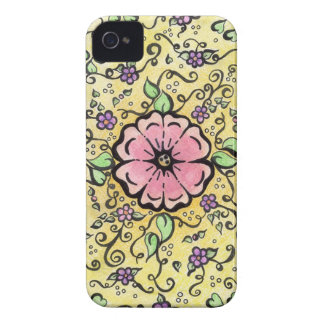 Flor rosada - primavera iPhone 4 Case-Mate carcasa