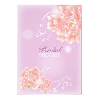 """flor rosada púrpura elegante moderna femenina del invitación 5"""" x 7"""""""