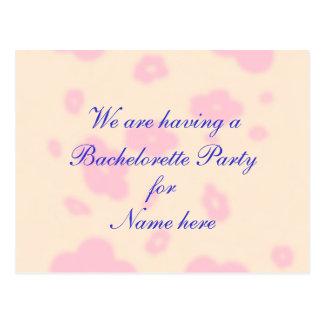 Flor rosada que casa al fiesta inmóvil de tarjeta postal