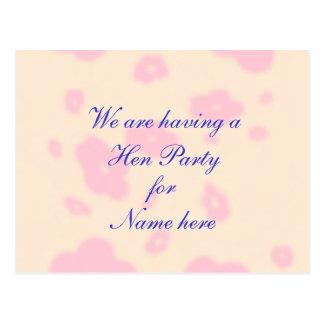 Flor rosada que casa noche o el fiesta inmóvil de postal