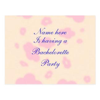 Flor rosada que casa personalizar inmóvil del tarjetas postales