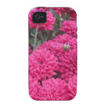flor rosada roja Case-Mate iPhone 4 carcasa