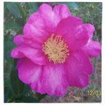 flor rosada servilleta de papel