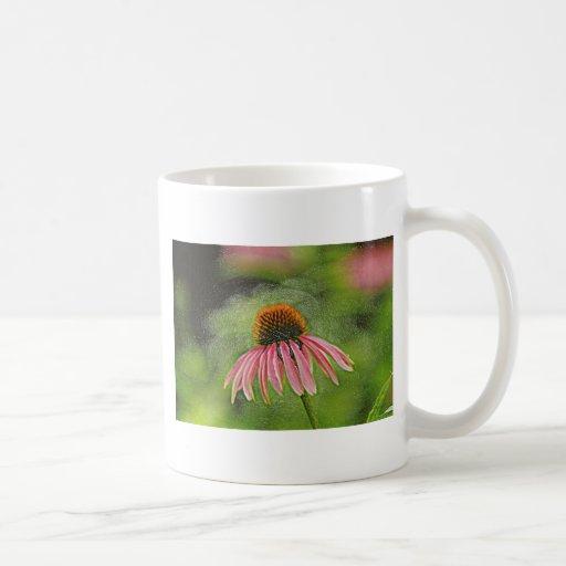 Flor rosada tazas