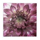 Flor rosada teja  ceramica