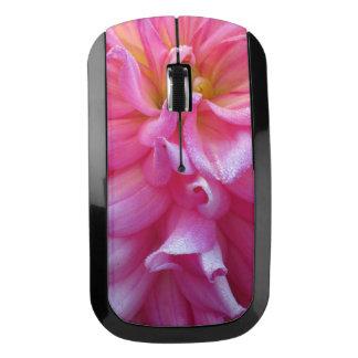 Flor rosada y amarilla ratón inalámbrico