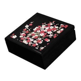 Flor rosada y blanca del japonés del vintage de Sa Caja De Regalo