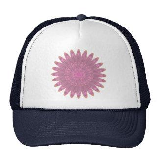 Flor rosada y púrpura del caleidoscopio gorras de camionero