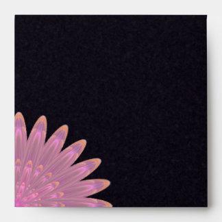 Flor rosada y púrpura del caleidoscopio sobres