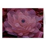 Flor rosada y púrpura del vidrio del mar tarjeta