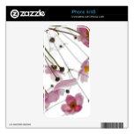 Flor rosado calcomanías para iPhone 4S