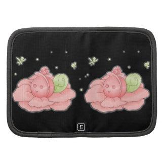 Flor rosado de la flor de Kawaii y hadas verdes Planificadores