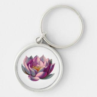 Flor rosado de Lotus Llavero