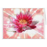 flor rosado del loto felicitaciones