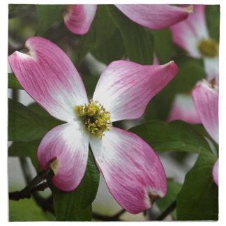 Flor rosado pintado del Dogwood macro Servilleta Imprimida