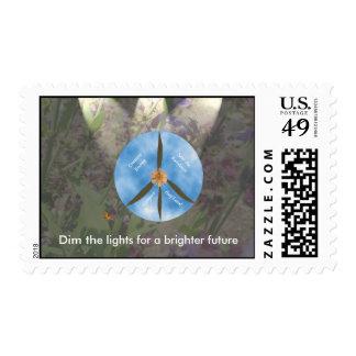 Flor sabia de la paz con el sello de la mariposa