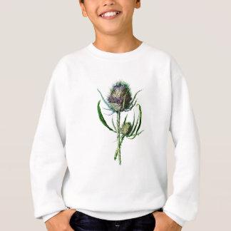Flor salvaje de la antigüedad del cardo del poleras