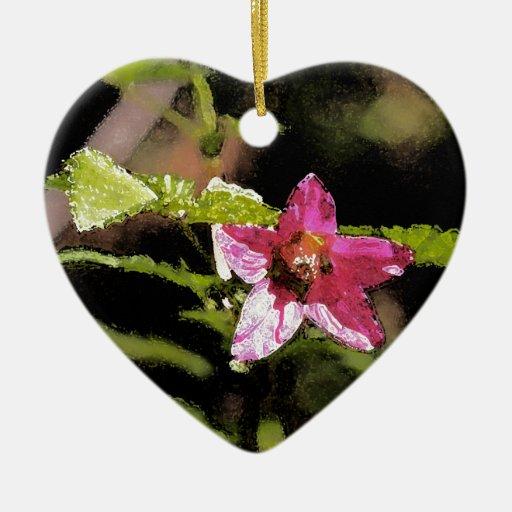 Flor salvaje del Salmonberry de la acuarela Adorno Para Reyes