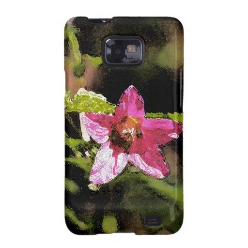 Flor salvaje del Salmonberry de la acuarela Samsung Galaxy SII Funda