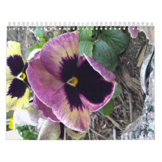 Flor salvaje púrpura de Tejas Calendario De Pared