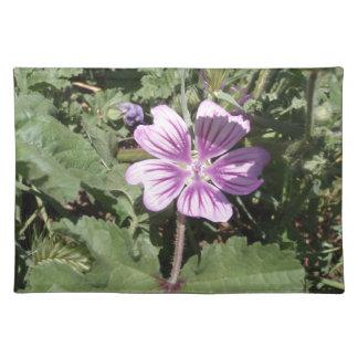 Flor salvaje púrpura mantel individual