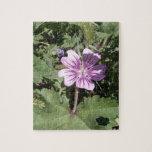 Flor salvaje púrpura rompecabeza con fotos