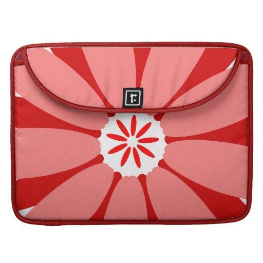 Flor salvaje roja fundas para macbooks