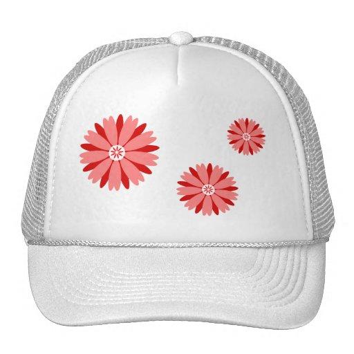 Flor salvaje roja gorros bordados