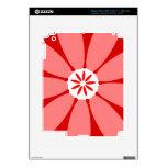 Flor salvaje roja iPad 3 skins
