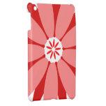 Flor salvaje roja iPad mini carcasas