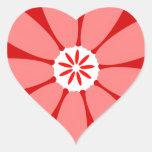Flor salvaje roja calcomania corazon personalizadas
