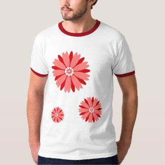 Flor salvaje roja playera