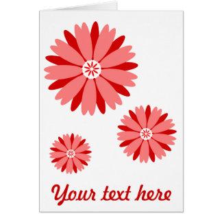 Flor salvaje roja tarjeta de felicitación