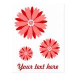 Flor salvaje roja tarjetas postales