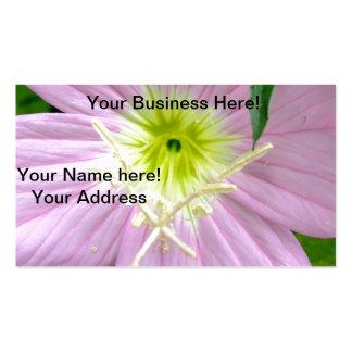 Flor salvaje rosada de la onagra tarjetas de negocios