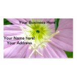 Flor salvaje rosada de la onagra tarjetas de visita